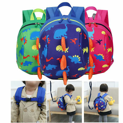 Toddler Backpack Kids Children Bag Cartoon Dinosaur Schoolbag Anti-lost Band