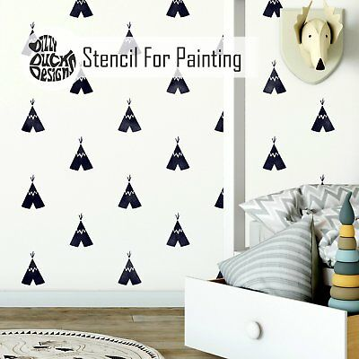 TIPI REPEAT Nordic Scandinavian Wall Furniture Craft Floor Stencil for Paint