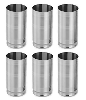 6 Stainless Steel Small Drinking Glasses Silver GIFTING Glasses  LOW PRICE fsw
