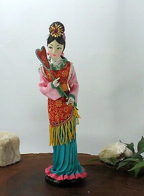 Beautiful Oriental Doll,Chinese Old style doll geisha woman with fan ccc184