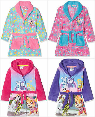 Boys Paw Patrol Hooded Dressing Gown fleece robe Age/'s 4-5 Years