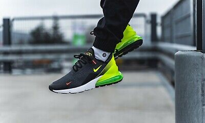 NIKE AIR MAX 270 Black White Volt Yellow Green Red Mens
