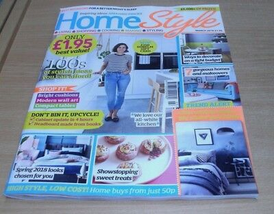 Home Style magazine MAR 2018 Modern Wall Art, Book Headboard, Makeovers, Ombre &