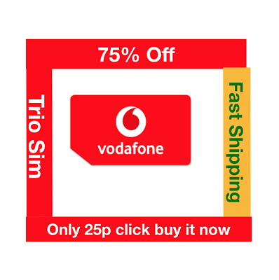 Vodafone Payg Top Up >> Vodafone Active Trio Sim Card Ready To Top Up No