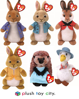 "Ty Beanie Peter Rabbit & Friends Soft Plush Toys - 7""(18Cm)  Licenced, New Movie"