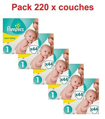 Pampers - New Baby - Couches Taille 1 (2 à 5 kg) - Pack 220 x couches