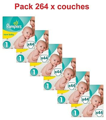 Pampers - New Baby - Couches Taille 1 (2 à 5 kg) - Pack 264 x couches