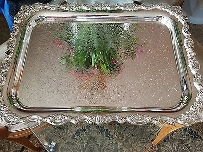 """Wallace Baroque Rectangle Silverplate 18"""" Tray"""