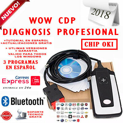 Equipo Diagnostico Wow Cdp Multimarca 2018 Bluetooth + 3 Software / Coche Camion