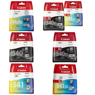 Canon 540/541 & 540XL/541XL Black and Colour Ink Cartridges for Pixma MG2150