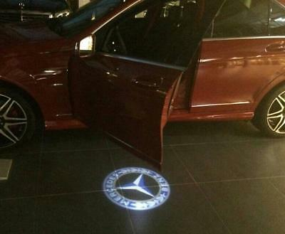 Mercedes Logo Car LED Auto Door Puddle Lights Fully Working