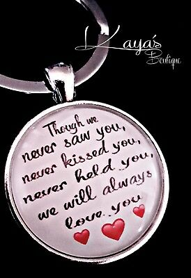 925 Silver Plt Miscarriage *Memorial* Baby Loss Keyring Pendant *Keepsake Gift*