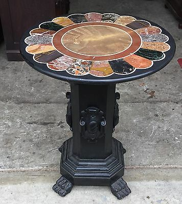 Pietra Dura Specimen Marble Top Table