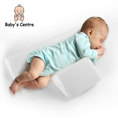 Infant Sleep Pillow Wedge Sleeping Positioner with Memory Foam for Newborns 0-6m