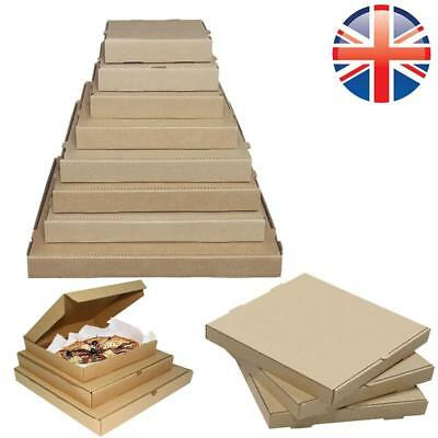 *UK Seller* PREMIUM QUALITY Plain Brown Takeaway Pizza Boxes 8 10 12 14 Inches