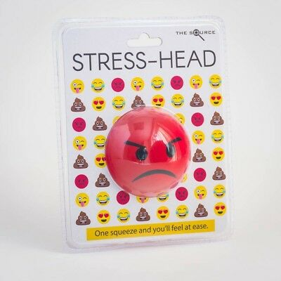 Red Faced Mad Stress Head Emoji Stress Ball Squeeze Squish Fidget