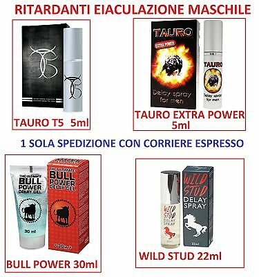 Ritardanti eiaculazione TAURO EXTRA POWER T5 Spray WILD Stud BULL POWER DELAY