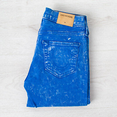 True Religion Halle mid rise Super Skinny women's blue jeans W24 L25