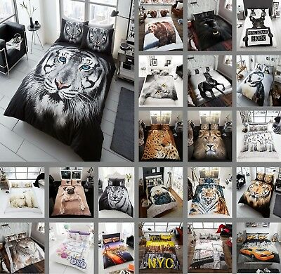 3D Effect Duvet Sets 3D Bedding Set 3D Animal Print Single Double King Sizes