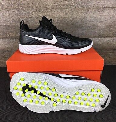 Nike Vapor Speed Turf Mens Football Softball Shoes 11.5 Black White 833408-017