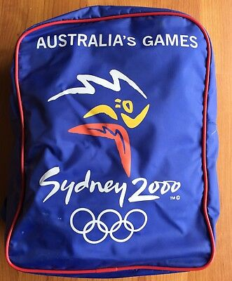 Sydney 2000 Olympic Games Official Licensed Backpack - Australia's Games As New