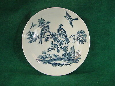 Worcester saucer printed blue Birds in Branches Listening, can you match?