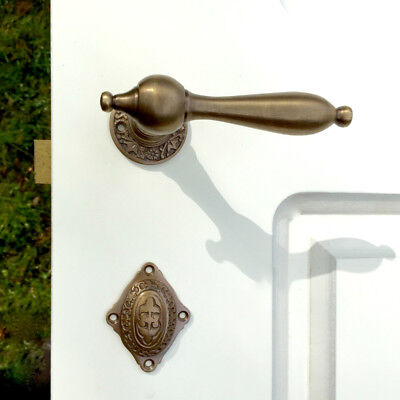 Nice Brass Fitting for Room Door like Antique, Decor Rosettes with Lock Plate