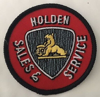 Embroidered  cloth patch ~ Holden Lion Sales & Service ~      C010301 -