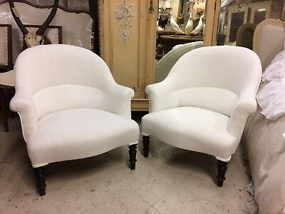 Pair Of Reupholstered French armchair Antique, Vintage