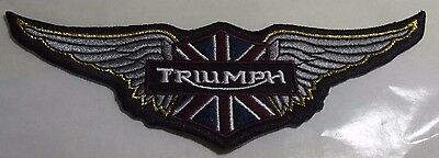 Embroidered cloth patch ~ Triumph wings .    B041002