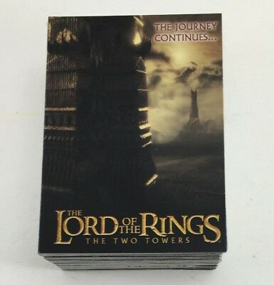 Lord of the Rings Cards Topps 2002 The Two Towers 1-90 card COMPLETE set