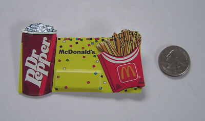 "McDonald's Dr.Pepper  Name Tag Badge Pin  2 1/2""x 3"""