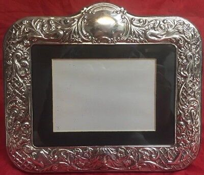 Antique Ornate Victorian English Solid Sterling Silver Picture RC Carr Frame 5x7