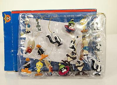 LOONEY TUNES (1999 Set of 18 Mini Xmas Ornaments/ Warner Brothers' ) [NEW]