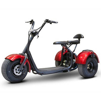 eWheels EW-21 Chopper Trike - E-Wheels Fat Tire Electric Scooter - Red, New
