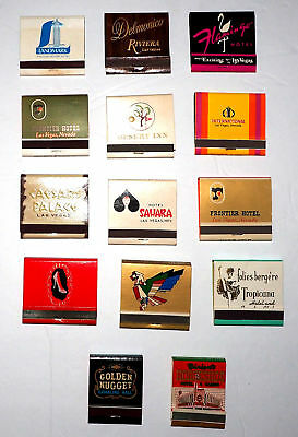 Lot of 14 Different Rare Collectible MATCHBOOKS - Las Vegas Nevada Hotel Casino