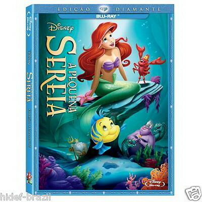 Blu-ray The Little Mermaid Pequena Sereia with SlipCover [ Eng+Fre+Spa+Port ]