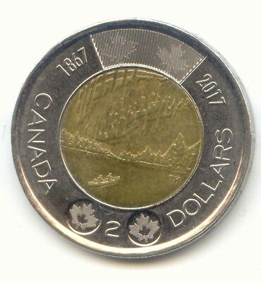 Canada 2017 Toonie Canadian Commemorative 2 Dollar $2 Two Dollar EXACT COIN