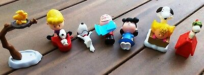 McDonalds Happy Meal Lot Snoopy Peanuts Toys Cake Topper Linus Sally Schroeder