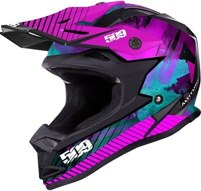 509 Altitude Glossy Aura Pink Off Road Snowmobile Winter Helmet Xl X-Large