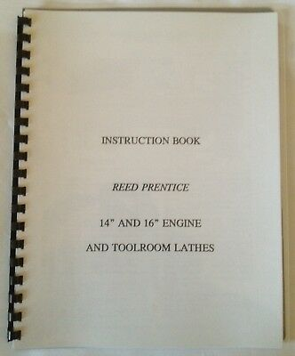 Reed Prentice 14 and 16 inch Lathe Manual