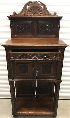 Antique French Carved Church Vestry Cabinet Altar Antique Furniture Gothic