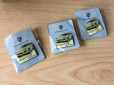 Lot of 3 PORSCHE OFFICIAL CAYENNE S HYBRID LAPEL / HAT PIN  NEW