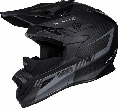 509 Altitude Matte Carbon Fiber Black Ops Off Road Snowmobile Winter Helmet 2Xl