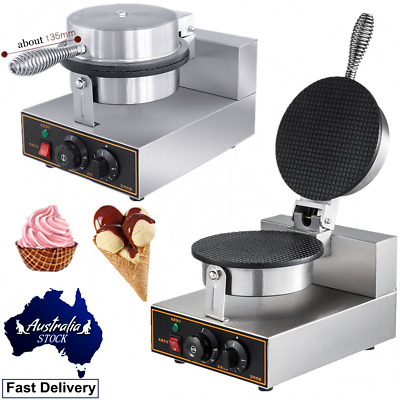 Commercial Regular Ice Cream Cone Maker Egg Roll Waffle Baker Nonstick AU Plug