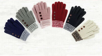 You Pick Britt's Knits Two Tone Ultra Soft Winter Gloves With Button Accents