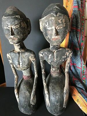Old Javanese Wedding Carvings a Matching Pair …beautiful accent, display, coll..