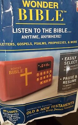 Wonder Bible Audio Player New..Box may have tare