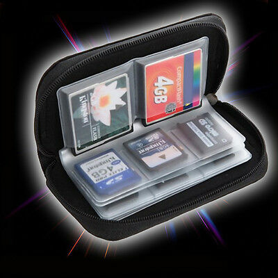 1X SDHC MMC CF Micro SD Memory Card Storage Carry Pouch Case Holder Wallet Uwwj