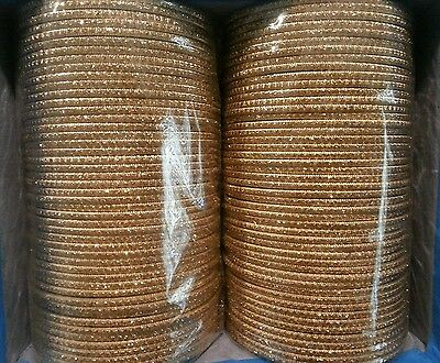 Indian Bollywood Belly Dance Party 70Mm Dia Bangles Hippy Gypsy Gold Color 12 Pc